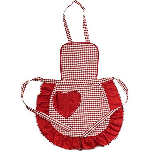 Grembiulino Baby CUORICINO cm.39x50 Grembiule Cucina Bambini Taglia Unica Bambino Cotone 100% Made in Italy
