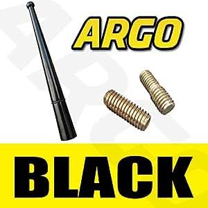 BLACK MINI ALLOY BEE STING AERIAL ANTENNA MAST RADIO AM FM CITROEN C1