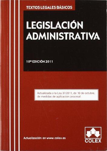 Tlb.legislacion administrativa 10ª ed. (Textos Legales Basicos 11) por María Teresa Criado Del Rio