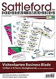 Sattleford Visitenkarte bedruckbar: 320 Visitenkarten Glossy Inkjet 230 g/m² (Visitenkarten-Papier vorgestanzt)