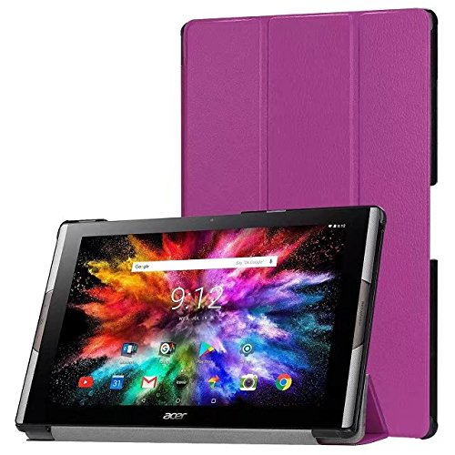 cover tablet acer iconia one 10 Acer Iconia A3-A50 Custodia Smart Shell - Bloomy Shop cover slim in pelle PU ultra sottile per Acer Iconia One 10 A3-A50 Tablet da 10.1 pollici (purple)