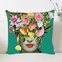 Jellbaby Frida Kahlo - Funda de Cojín para Decoración del hogar, I, 45*45CM