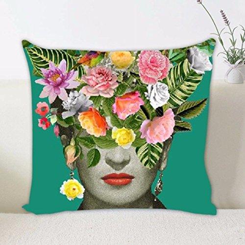 MOCHOAM Funda de Cojín Frida Kahlo Decoración para el hogar Funda de Almohada Cojín Estampado (sin Almohada)