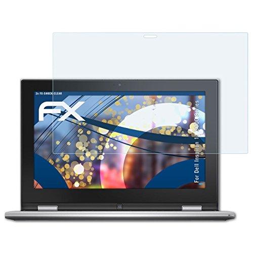 atFolix Schutzfolie kompatibel mit Dell Inspiron 11 3000 Series Panzerfolie, ultraklare und stoßdämpfende FX Folie (2X)