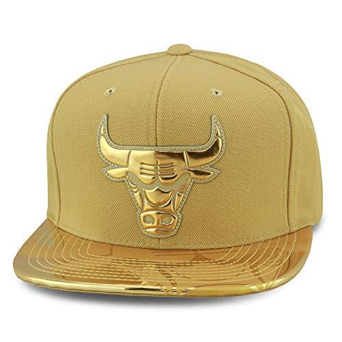 Mitchell & Ness (Premium Design Chicago Bulls Snapback Cap Gold Metallic Gold Folie