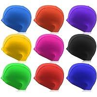 Gorro de natación »Guppy« / Unisex y hecho de material elástico / Se adapta perfectamente a la forma de la cabeza / negro