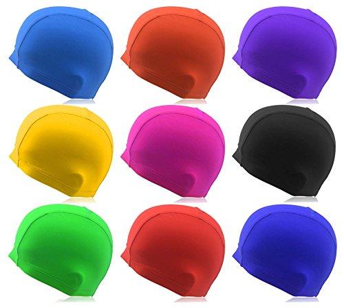 #DoYourSwimming® Badekappe für Erwachsene & Jugendliche | Material : Stoff (Nicht wasserdicht) - elastische Badehaube/Schwimmbaube - angenehmer Guppy« Navyblau
