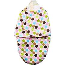 Happy Cherry-Copertina per bambino, in cotone e stampa Cachemire-Sacco nanna a nido d'angelo Wrap passeggino, Sacco a pelo per neonato, 30 x 56 cm, 8 colori, 0-6 mesi
