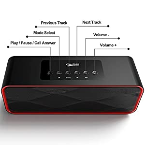 Wireless HiFi Hd Sound And Bass Bluetooth Speaker For IPhone IPad Phones,Handsfree Portable Speakerphone with Built-in Mic from Oubaifan