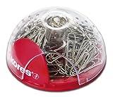 Kores Büroklammern Office Bubble, Spender, 25 mm, 100 Stück, rot/transparent