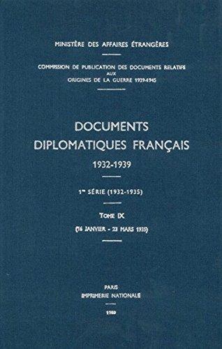 Documents Diplomatiques Francais, 1935: 16 Janvier - 23 Mars