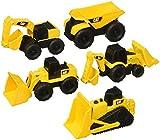 Cat Mini Machines - 5 Toy Vehicle Playset - Digger Dump Truck Bulldozer Backhoe Excavator