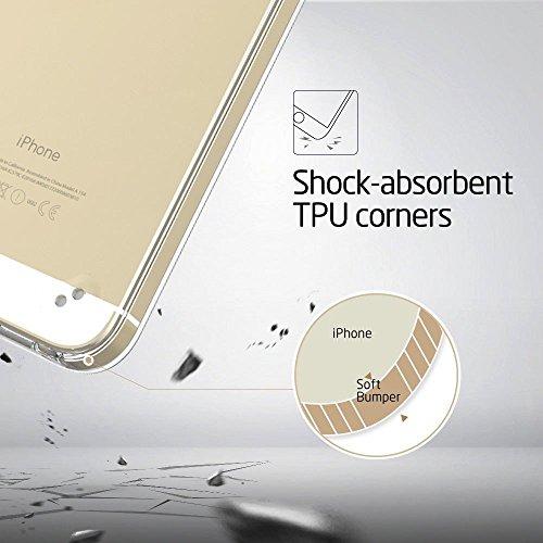 iPhone 7 Hülle, UCMDA Silikon Dünn Schutzhülle [Durchsichtig Clear] Weich Flexibel Bumper Case Cover mit Muster for Apple iPhone 7 White Dandelion