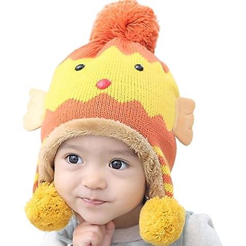Tefamore dibujos animados polluelo niño invierno cálido Sombrero del oído