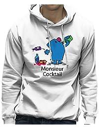 Mr Men Monsieur Cocktail Men's Hooded Sweatshirt
