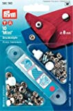 10 Nähfrei Mini Druckknöpfe 8 mm silber 390360