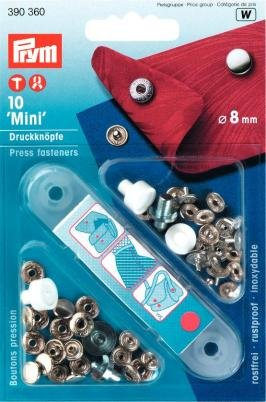 Preisvergleich Produktbild Nähfrei Mini Druckknöpfe 8 mm silber 390360