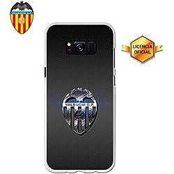 Funda Gel Flexible Valencia C.F. para Samsung Galaxy S8+, Carcasa TPU, protege y se adapta a la perfección a tu Smartphone. Licencia oficial Valencia CF - Escudo 5.