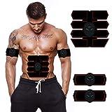 EMS Intelligente Trainingsgerät Bauchmuskeltrainer Muskelstimulator, Faule Haushaltsbüro USB-Aufladung Verlieren Gewicht Bewegung Fitnessgeräte (Farbe : SCHWARZ)