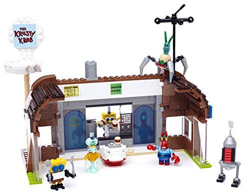 Image of Mega Blocks Toy - Spongebob Square Pants Krusty Krab Attack - 407 Piece Building Playset - Figures