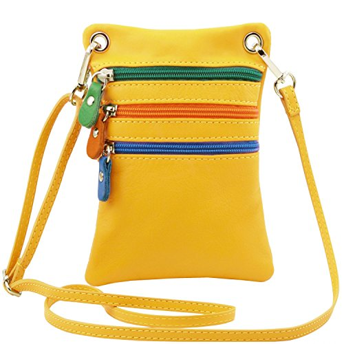 Tuscany Leather TL Bag Tracollina in pelle morbida Cognac Giallo
