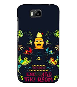 Cartoon, Black, Cartoon and Animation, Printed Designer Back Case Cover for Huawei Honor Bee :: Huawei Honor Bee Y5c