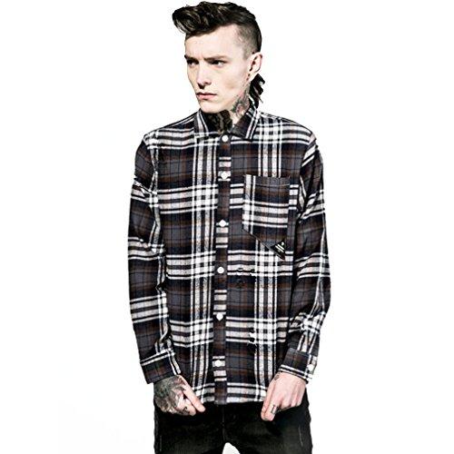 Disturbia -  Camicia Casual  - Classico  - Uomo multicolore X-Large