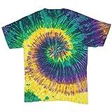 Colortone - Unisex Batik T-Shirt 'Swirl' / Mardi Gras, XL