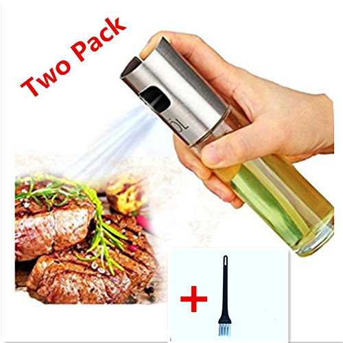 Olivenöl Spritze tragbar Küche Grill Kochen Öl Trigger Sprayer Flasche für BBQ/Kochen/Essig (One Pack) einem Pinsel 100 ml Oil Sprayer 1