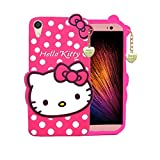 Trifty Cute Hello Kitty Soft Silicone With Pendant Back Cover For HTC Desire 820 - Pink