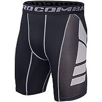 Hivexagon Pantalones Cortos de Compresión de Media Pierna para Deportes, Correr y Entrenamiento de Gimnasio SM008GYM