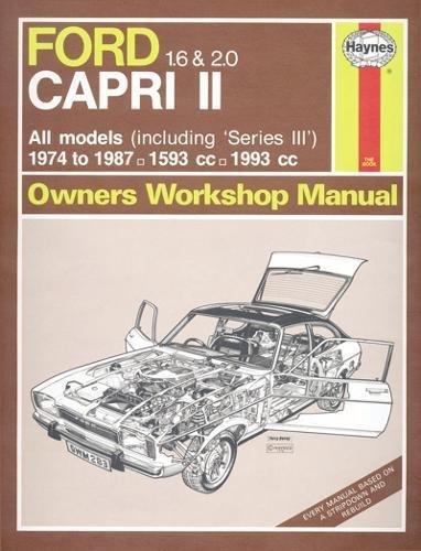Ford Capri II (and III) 1.6 & 2.0 (74 - 87) Haynes Repair Manual (Classic Reprint) -