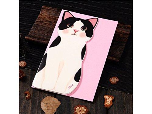 (3D Pop UP Grußkarten 1 pc Katze Form Grußkarte handgemachte Karte Weihnachten Einladung Geburtstag Karte (bunte Katze) Jubiläum Einladung Hochzeit)
