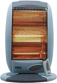 مدفأة غرفة FLEXY® ألمانيا بقدرة 1200 وات هالوجين مع 3 درجات حرارة قابلة للتعديل ومروحة دوران 70 درجة