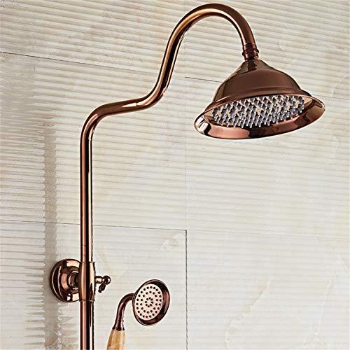 Bad Dusche Mixer Anti Verbrühungshahn Luxus-Duschen 22 Wasserfall Regendusche Wasserhahn & Handbrause SUS304 Luxus 4-Funktion-Spa Wasserfall Massage Badewanne Lampe Dusche Set