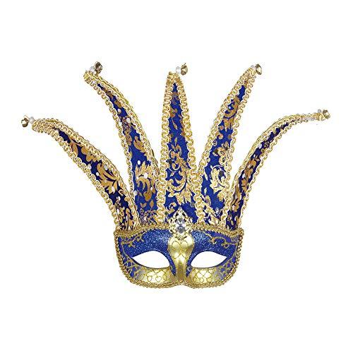 WIDMANN 1775K - Venezanische Augenmaske Jester, blau / gold