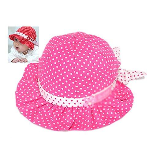 Niedlich 3- 24 Monate Baby Sonne Polka-Punkt Herz Baumwolle Sommer Hut Mütze Pink