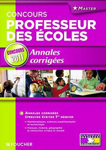 Annales corrigées Concours Professeur des écoles Concours 2011