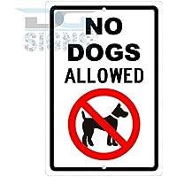 No dogs allowed Sign de aluminio Metal Signs Vintage señales de tráfico placas de lata Signs placa decorativa