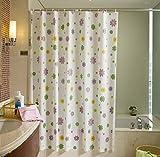 Peva Shower Curtain, 200X280Cm Flower Sh...
