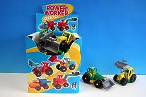 POWER WORKER 2000 - Tractor con Cargador Frontal de plástico (28 cm)