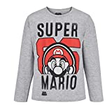 SUPER MARIO BROS Jungen T-Shirt 5246,Grau (Gris) 12 Jahre