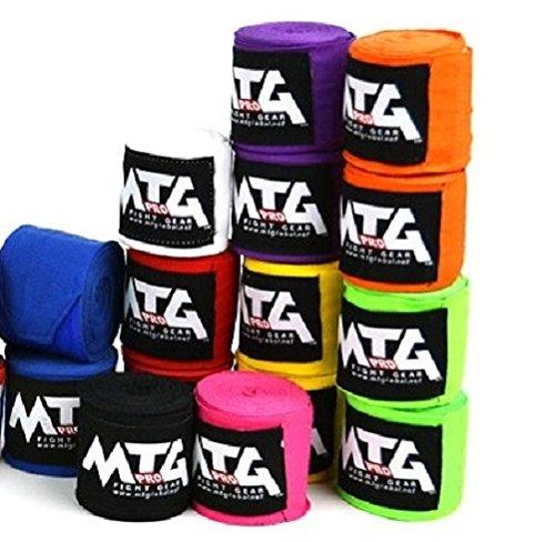 MTG Pro Mano vendas elásticas, 2,50m–Vendas de boxeo (, vendas, wickelb andagen Cajas Muay Thai, color verde lima, tamaño 2,50m