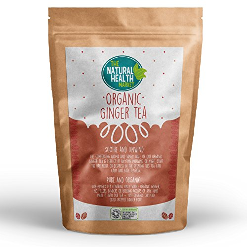 Organic Ginger Tea Bags By The Natural Health Market • Soil Association Certified Organic Ginger (50 Teabags)