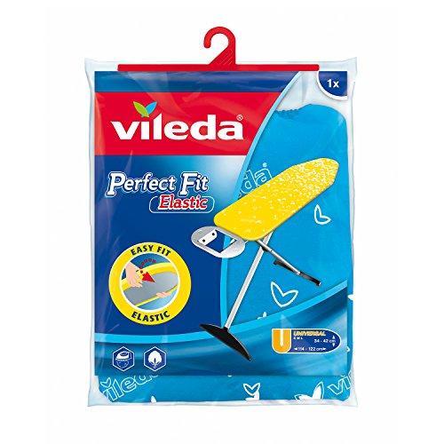 Vileda Viva Express Perfect Fit Elastic Bügeltischbezug, blau, mit Nachspannsystem