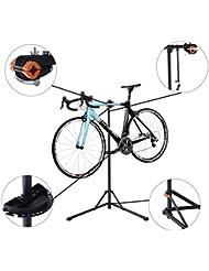 Caballete para Bicicleta Reparación de Ciclismo Soporte de Montaje para Bicicletas Bandeja Negro