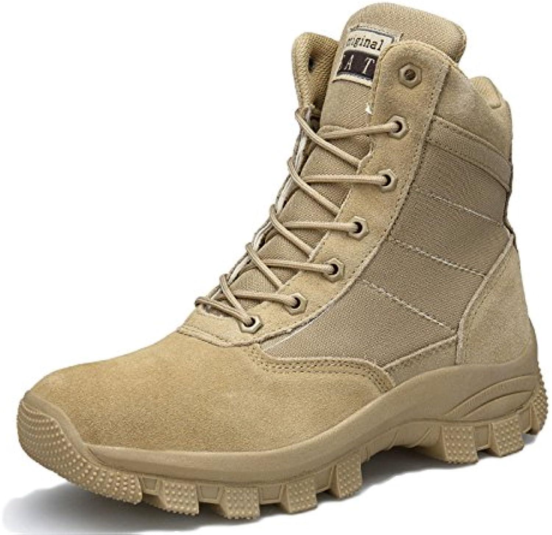 Nihiug Scarpe da da da Trekking Uomo Impermeabile Leggero High-Top Lace Up Stivali Antiurto Stivali Militari Forze Speciali... | Shop  6caa4b