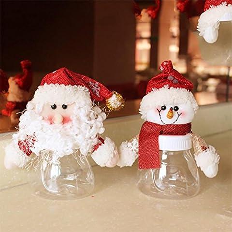 YUYU Tarro de dulces de navidad ornamento ornamentos decorativos regalos de vacaciones (2)