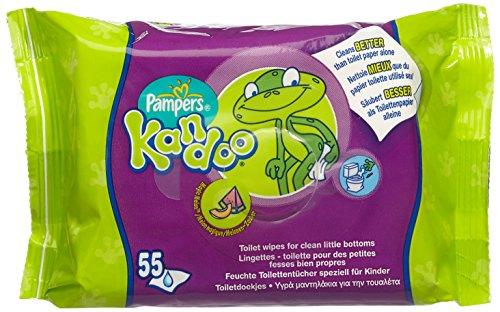 Pampers Feuchttücher Kandoo Melone Nachfüllpack, 4er Pack (4 x 55 Stück)