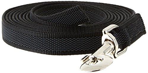 Artikelbild: JULIUS-K9, 216GM-3 Color & Gray gumierte Leine, 20 mm x 3 m ohne Shlaufe, maximal für 50 kg Hunde, schwarz-grau